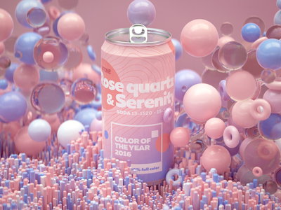 2016 Pantone Color color of the year pantone branding logo illustration soda can render octane design cgi camilociprian 3d c4d