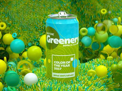 2017 Pantone Color cinema4d 3d art can colors green pantone branding logo soda can render octane design cgi camilociprian 3d c4d