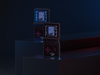 Brick Game Design tetris cinema 4d brick game industrialdesign game branding ui illustration render design cgi 3d c4d