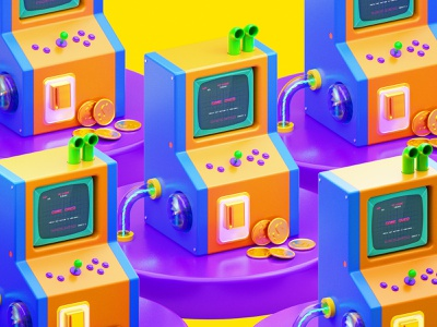 Arcade Machine game arcade game octane render design cgi camilociprian 3d c4d