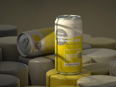 Pantone Color of the Year 2021 branding pantone soda can octane design render cgi camilociprian 3d c4d