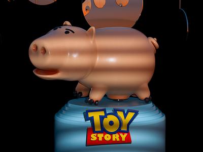 Toy Story Hamm 3d artist pig toy story illustration render design cgi camilociprian 3d c4d
