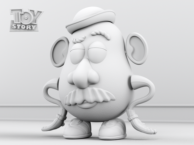 Clay Render - Mr. Potato Head toy story mr potato head clay render 3d character render illustration design cgi camilociprian 3d c4d