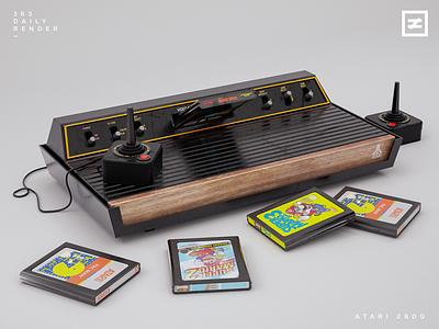 Atari 2600 arcade nes cgi joystick nintendo mario games retro vray pac-man c4d atari 2600 3d