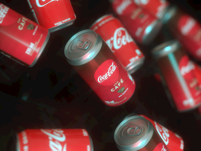 CocaCola Coffee design packaging cocacola coffee camilociprian render soda can coke daily render octane 3d cgi c4d