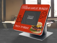 Cheddar Garlic Burger