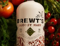 Brewt's Bloody Mary Mix - Packaging Design
