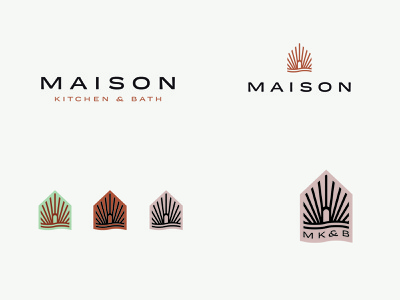 Maison Kitchen & Bath - Logo I. Lockups wave house icon home design architect interior design bathroom logo design brand design identity design home house emblem interiordesign bath kitchen logo branding graphic design design art direction