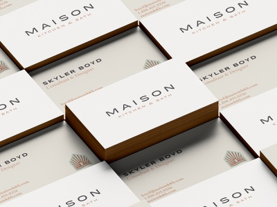 Maison Kitchen & Bath - Branding Expanded water branding concept brand design poster interior design hang tags identitydesign identity logo design house icon house home kitchen emblem logo branding graphic design design art direction