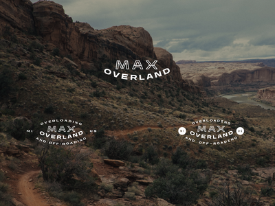 Max Overland - Logo Design III. rugged terrain mountains patch emblem design logo design brand design trucks nature outdoors off-road off-roading michigan emblem logo branding graphic design design art direction