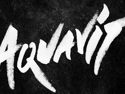 Aquavit - hand drawn type lockup long road distillers michigan craft distilling alcohol graffiti hand-drawn typography craft spirits aquavit