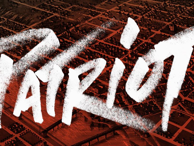 Patriot Gin - hand drawn type lockup long road distillers michigan craft distilling alcohol graffiti hand-drawn typography craft spirits patriot gin