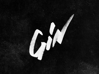 Gin - hand drawn type lockup