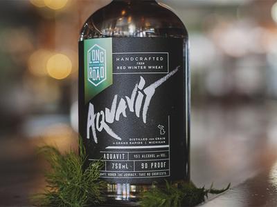 Aquavit Bottle Design - Long Road Distillers
