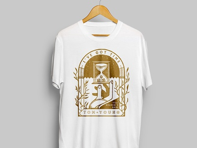 Tom Young - Merch Design - Band T-shirt hand hourglass t-shirt band t music apparel design merch graphic design design drawing illustration tom young