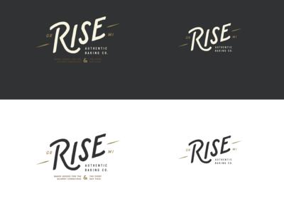 Rise Authentic Baking Co. - Responsive Logo lockups