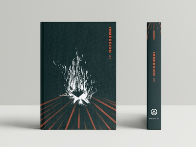 Notebook Design - Immersion 2019 flame urban outdoors campfire camp ministry city christianity biblical light fire cover book notebook hand drawn illustration design graphic design art direction