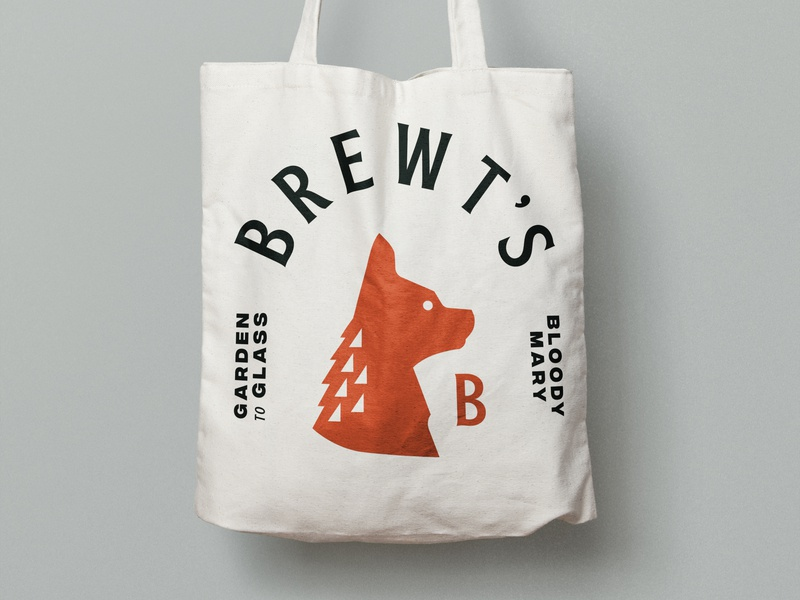 Farmer's Market - Chihuahua Logo - Tote bag farmers market animal profile tote letter b dog logo dog illustration all-natural mix bloody mary chihuahua dog logo illustration full circle branding graphic design design art direction