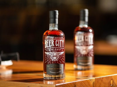 Beer City Whisky Series - Packaging michigan grand rapids brewery eagle long road distillers distilling craft spirits craftbeer spirits whiskey whisky beer packaging packaging design illustration typography branding graphic design design art direction