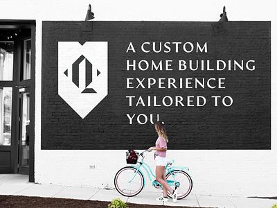 Q Emblem - Mural ad Design construction homes contractor builder logodesign brand q logo emblem logo branding graphic design design art direction