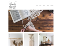 Macrame Website Design : Elizabeth McTague