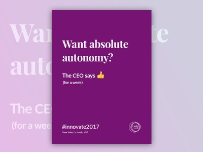 Innovate 2017 Poster Series poster poster series black emoji logmein clean design graphic typographic type font