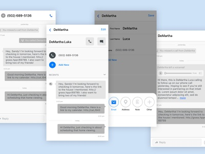 Contact Management Wireframes contacts clean mobile wireframe button texting messages ui ux greyscale