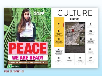 Culture Magazine grid layout collumn table of contents travel clean design editorial magazine culture print design
