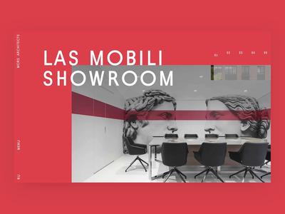 Mors Architects interaction ui design landing ui web animation