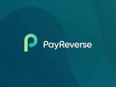 Pay Reverse statup fintech brand monogram mark identity sign typogaphy reverse pay p vector branding logo