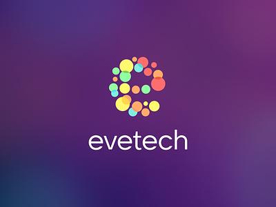 Evetech mark monogram sign typogaphy identity logotype branding logo