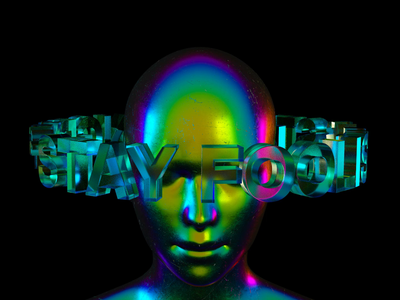 Stay Hungry typography experiment digital art 3d art c4d render 3d animation