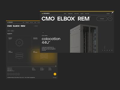 Remer website ux web layout presentation branding design art direction minimal typography