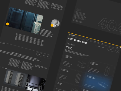 Remer: Inner pages corporate web ux website ui animation