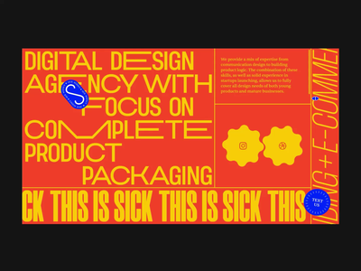 Sick Interactions aftereffects interaction website ux ui web animation