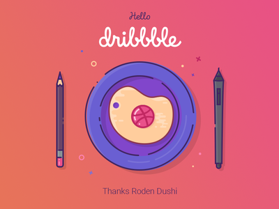 Dribbble egg stylus pencil plate invitation hello scrambled eggs omelette egg illustration first first shot debut