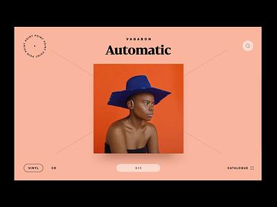 Point — vinyl shop interface interaction website web store slider navigation concept ui design uiux animation ui web design desktop e-commerce e-shop audio vinyl shop point