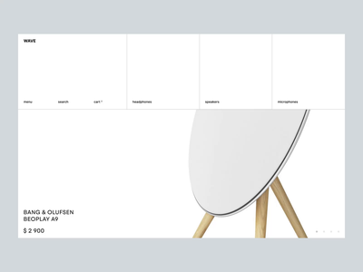 Wave ui  ux minimal minimalist hifi audio shop store e-commerce ui design concept web design desktop animation web ui