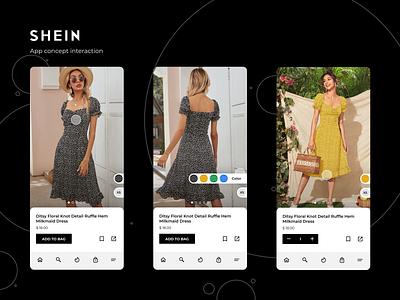 Shein app concept interface figma figmadesign interaction interface ui design shein ux ui