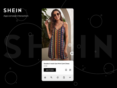 Shein app concept interaction design shein ux ui  ux design app mobile ui mobile interaction prototype animation prototype interface motion figmadesign figma ux design uiux ui design ui