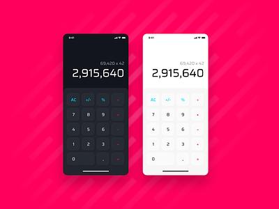 Calculator App ux design interface ios interaction app ui  ux design figmadesign figma ux ui