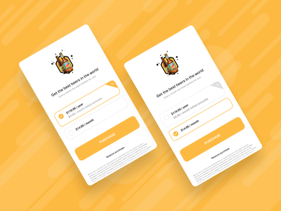 Beerfy subscribe page subscription subscribe beer ios interaction app ux design ui  ux design interface figmadesign figma ux ui