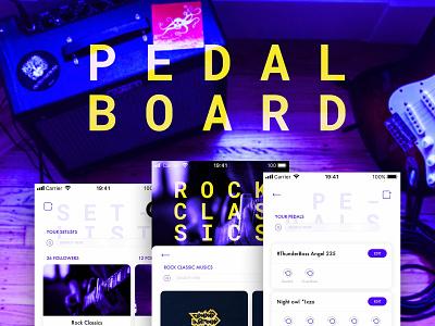 PedalBoard sketch music app ux design ui  ux design ui app ios