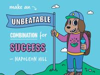Napoleon Hill Quote - Poster
