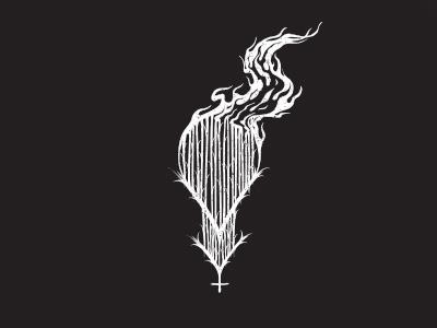 Black Metal Logo grunge black fire nordic metal blackmetal