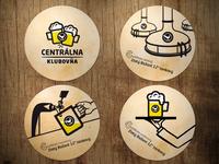Beer coasters for Centralna Klubovna