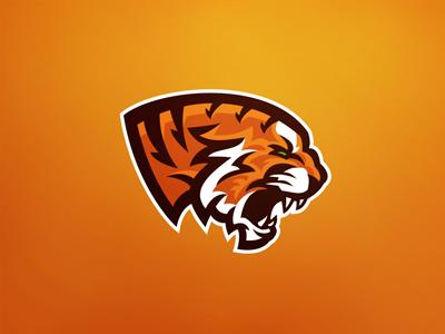 Tiger Mascot sport logo illustration sport tiger mascot logo identity graphic football brand athletics animal