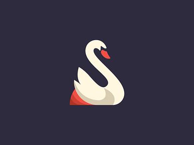 S Swan Logo mark vector logo animal s swan