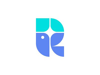 R Bird Logo identity brand logo bird mark r