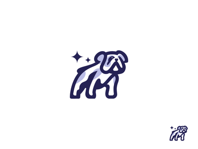 Dog symbol icon mark mascot identity pitbull logo character